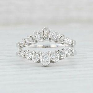 14K Diamond Ring Guard .20 carats Size 7.75